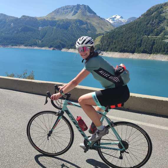 Emilie triatlont tegen kanker